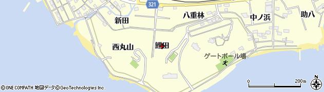 愛知県西尾市東幡豆町(鯉田)周辺の地図