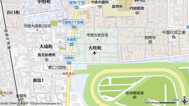 〒665-0057 兵庫県宝塚市大吹町の地図