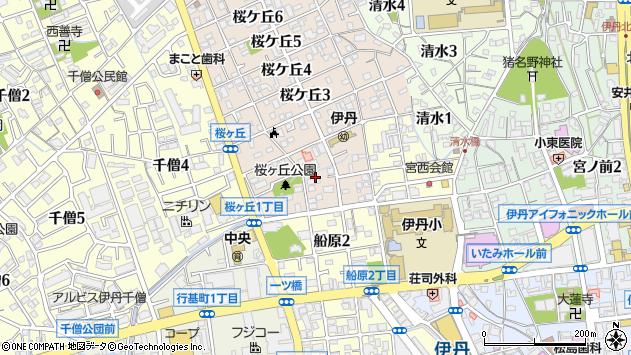 〒664-0897 兵庫県伊丹市桜ケ丘の地図