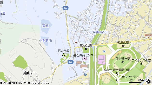 〒676-0823 兵庫県高砂市阿弥陀町生石の地図
