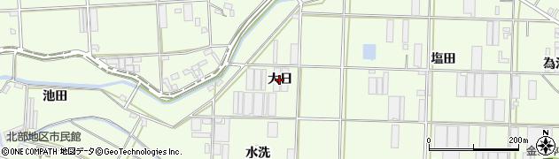愛知県豊橋市大村町(大日)周辺の地図
