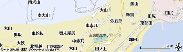愛知県西尾市吉良町宮崎(東赤兀)周辺の地図