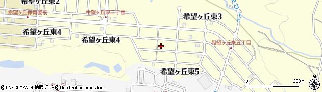 三重県伊賀市希望ヶ丘東周辺の地図
