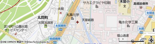 大阪府寝屋川市太間東町周辺の地図