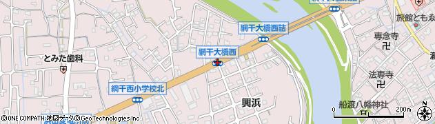 網干大橋西周辺の地図