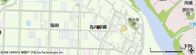 愛知県豊橋市大村町(為河原郷)周辺の地図