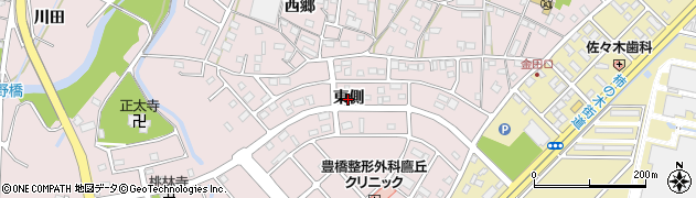 愛知県豊橋市牛川町(東側)周辺の地図