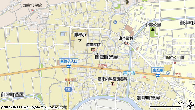 〒671-1341 兵庫県たつの市御津町釜屋の地図