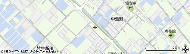愛知県西尾市一色町生田(巨海地)周辺の地図