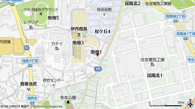 〒664-0025 兵庫県伊丹市奥畑の地図