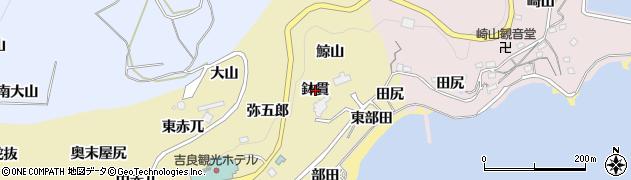 愛知県西尾市吉良町宮崎(鉢貫)周辺の地図