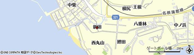 愛知県西尾市東幡豆町(新田)周辺の地図