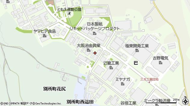 〒673-0443 兵庫県三木市別所町巴の地図