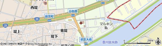 愛知県豊橋市日色野町(新切)周辺の地図