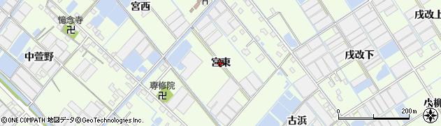 愛知県西尾市一色町生田(宮東)周辺の地図