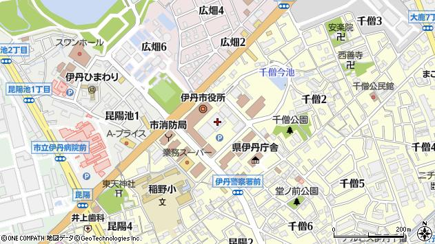 〒664-0898 兵庫県伊丹市千僧の地図