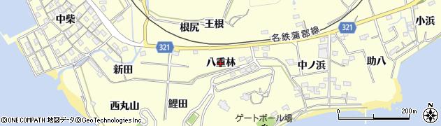 愛知県西尾市東幡豆町(八重林)周辺の地図
