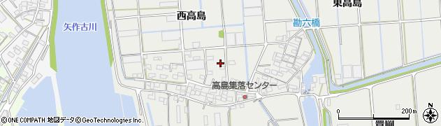 愛知県西尾市吉良町吉田(西高島)周辺の地図