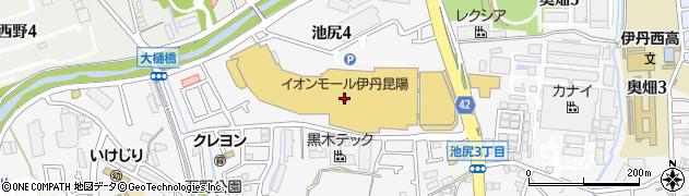 ケンタッキーフライドチキンイオンモール伊丹昆陽店周辺の地図