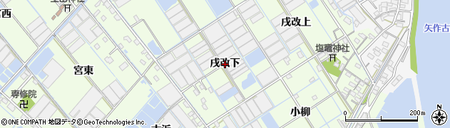 愛知県西尾市一色町千間(戌改下)周辺の地図
