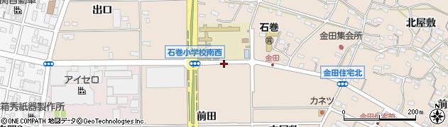 愛知県豊橋市石巻町(堀合)周辺の地図