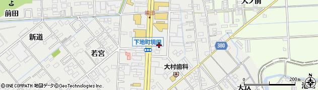 愛知県豊橋市下地町(境田)周辺の地図