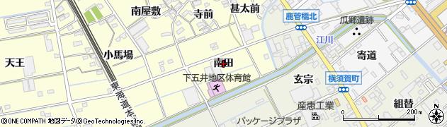 愛知県豊橋市下五井町(南田)周辺の地図