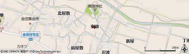 愛知県豊橋市石巻町(東頭)周辺の地図