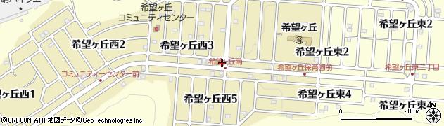 三重県伊賀市希望ヶ丘西周辺の地図
