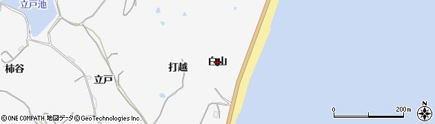 愛知県美浜町(知多郡)北方(白山)周辺の地図