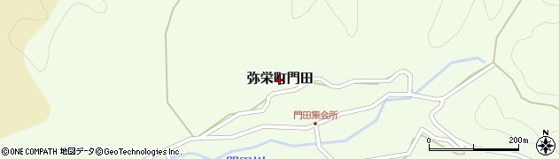 島根県浜田市弥栄町門田周辺の地図