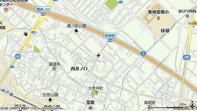 〒675-0055 兵庫県加古川市東神吉町西井ノ口の地図