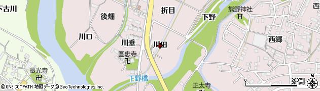 愛知県豊橋市牛川町(川田)周辺の地図