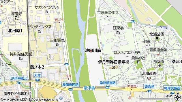 〒664-0835 兵庫県伊丹市東桑津の地図