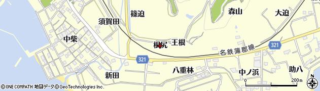 愛知県西尾市東幡豆町(根尻)周辺の地図