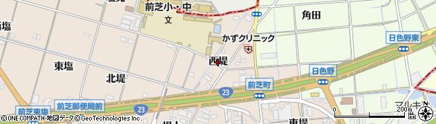 愛知県豊橋市前芝町(西堤)周辺の地図