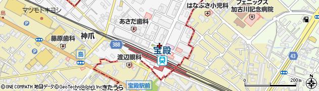 宝殿駅北口周辺の地図