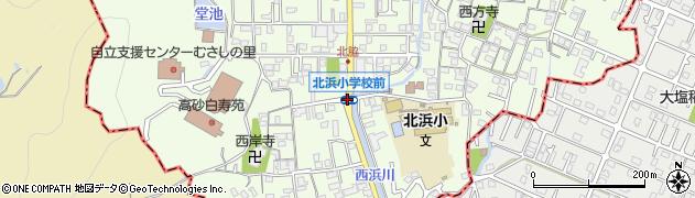北浜小前周辺の地図