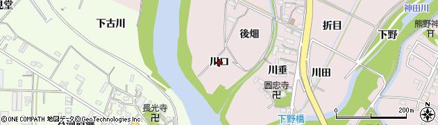 愛知県豊橋市牛川町(川口)周辺の地図