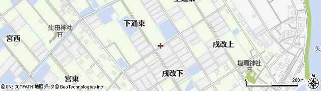 愛知県西尾市一色町千間周辺の地図