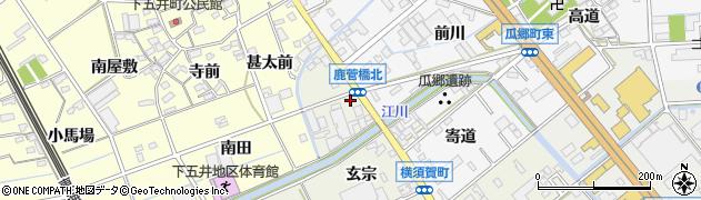 愛知県豊橋市横須賀町(玄宗)周辺の地図