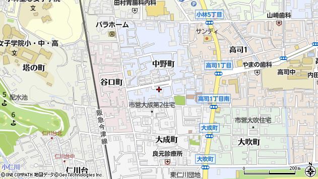 〒665-0056 兵庫県宝塚市中野町の地図