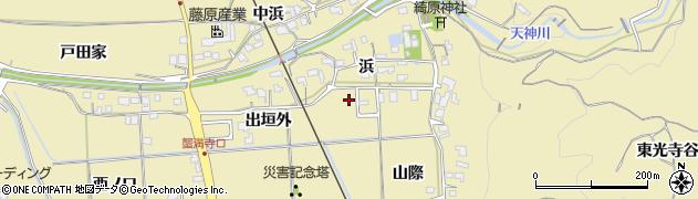 京都府木津川市山城町綺田(浜)周辺の地図
