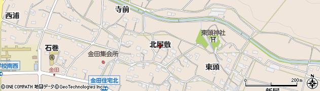 愛知県豊橋市石巻町(北屋敷)周辺の地図