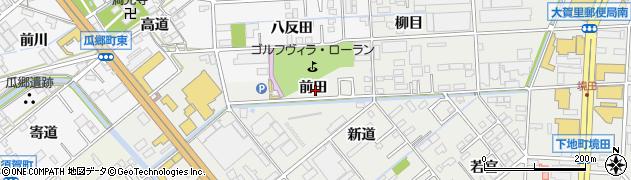 愛知県豊橋市下地町(前田)周辺の地図