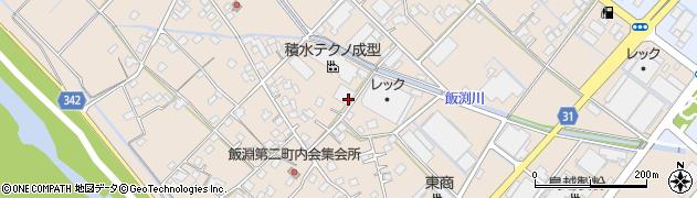 静岡県焼津市飯淵周辺の地図