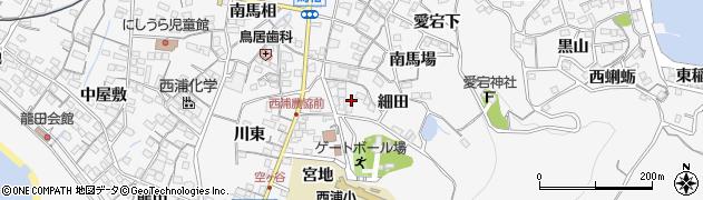 愛知県蒲郡市西浦町(宮新田)周辺の地図
