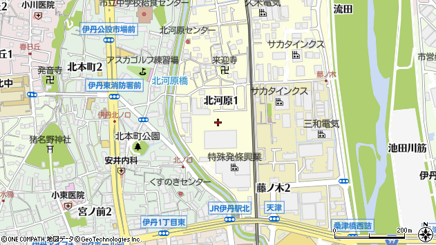 〒664-0837 兵庫県伊丹市北河原の地図