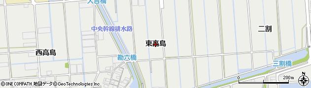 愛知県西尾市吉良町吉田(東高島)周辺の地図
