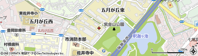 大阪府吹田市五月が丘東周辺の地図